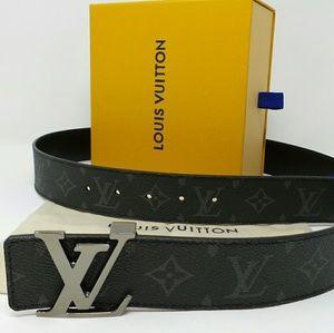 Louis Vuitton Reversible Belt Dark LV Buckle New